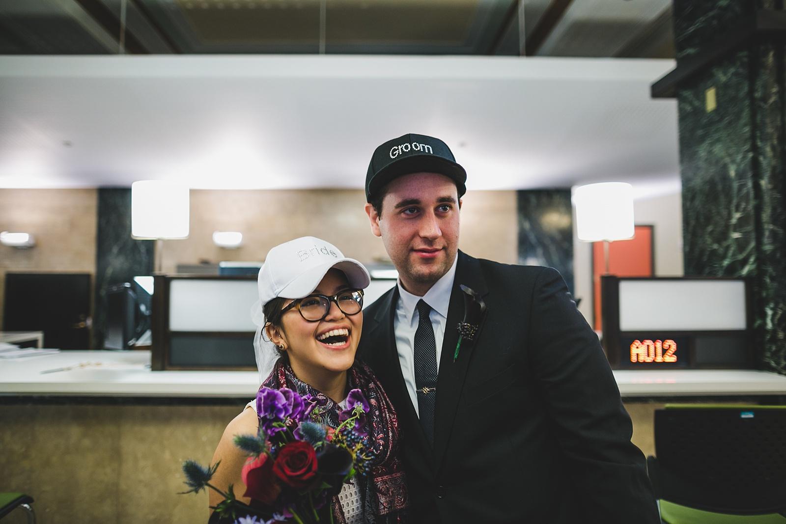 a casual city hall wedding shot by brooklyn wedding photographer katie osgood